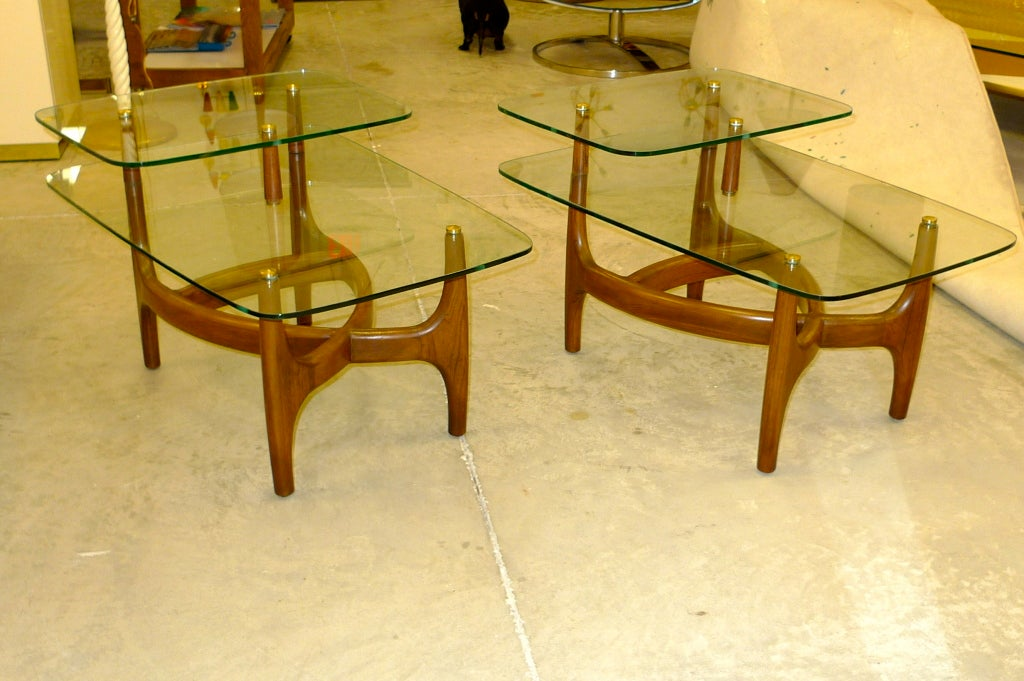 Pair Of Two Tier End Tables After Vladimir Kagan 2