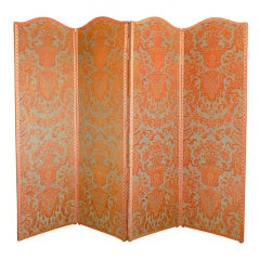 Fortuny 'Carnavalet' Four Panel Double Sided Screen