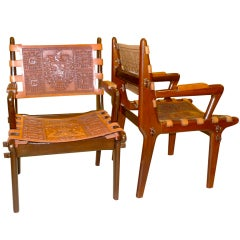 Pair of Ecuadorian Lounge Chairs via Peace Corps