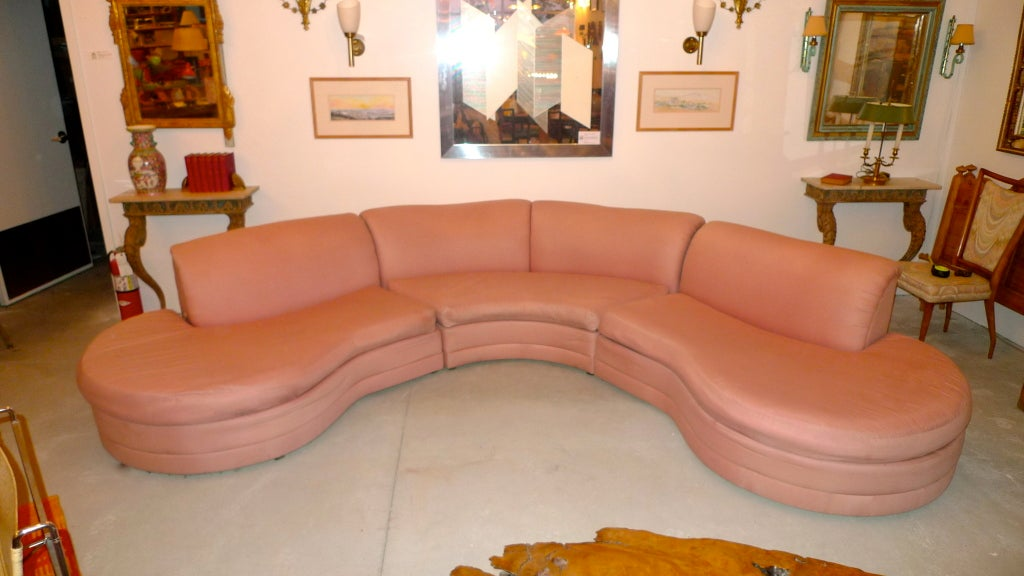 Diva Licious Uber Glam Three Piece Curved Sectional Sofa Designed By Adrian Pearsall For Comfort