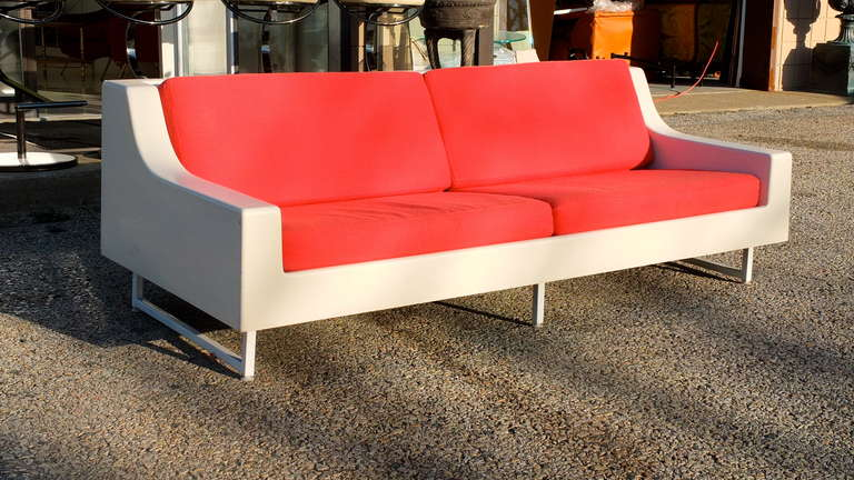Indoor/Outdoor Vintage Fiberglass Sofa For Sale at 1stdibs