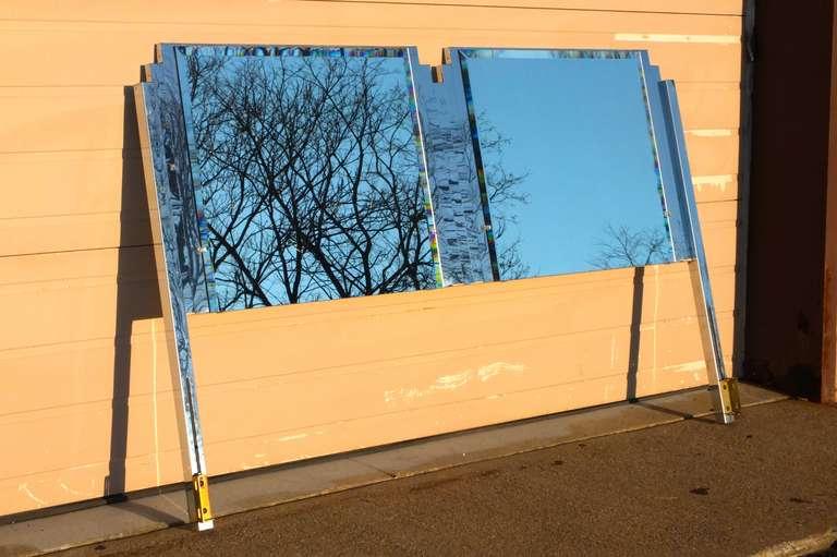 Ello King Sized Mirror & Chrome Steel Headboard For Sale 1
