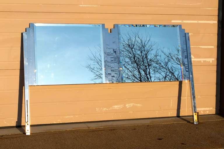 Ello King Sized Mirror & Chrome Steel Headboard For Sale 2