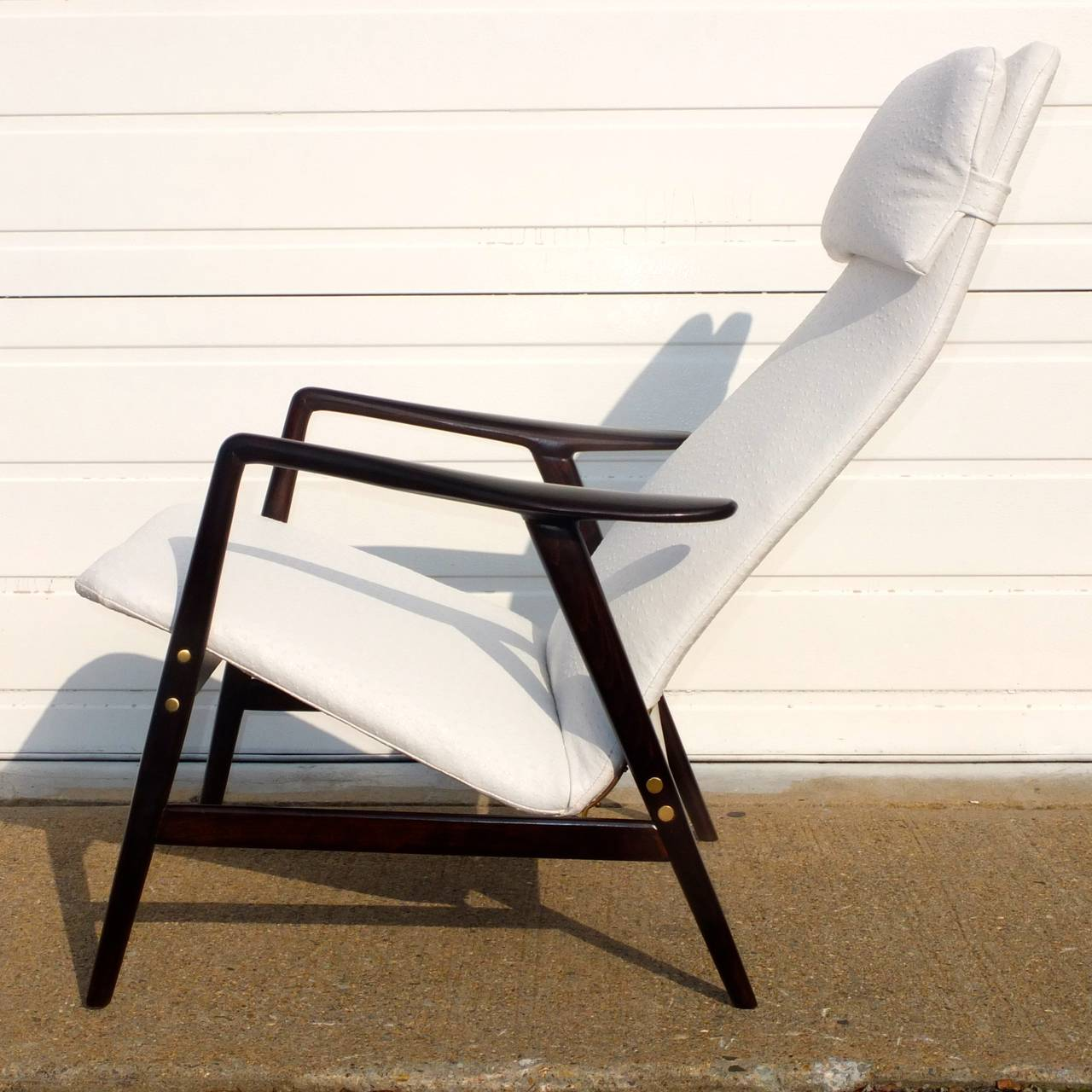 Ebonized Alf Svensson Reclining Lounge Chair For Sale