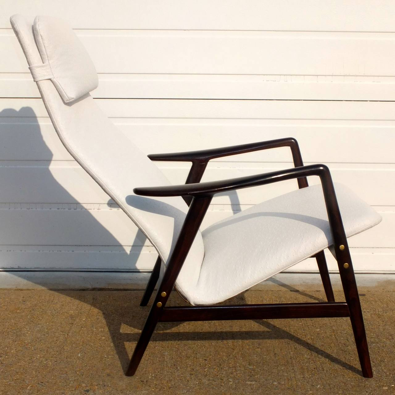 Alf Svensson Reclining Lounge Chair In Excellent Condition For Sale In Hingham, MA