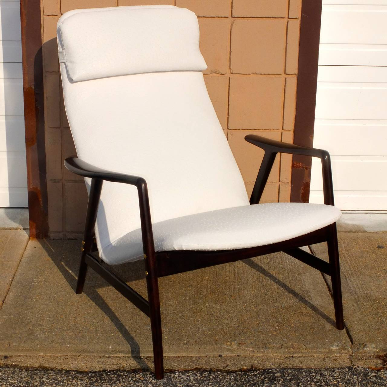 Faux Leather Alf Svensson Reclining Lounge Chair For Sale