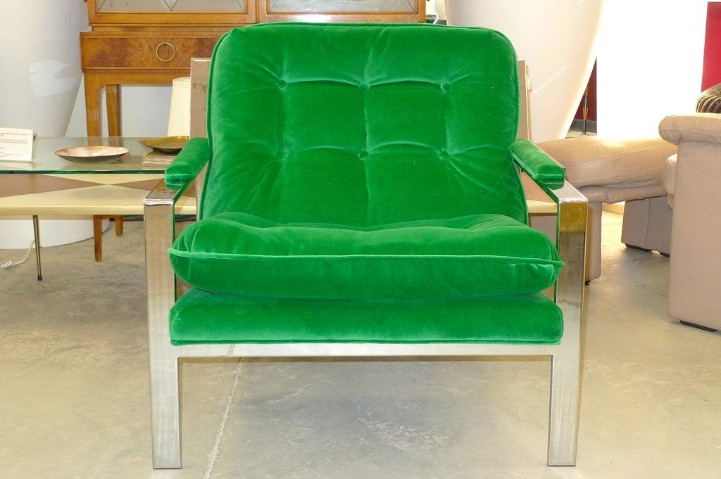 Cy Mann Chrome Lounge Chair 7