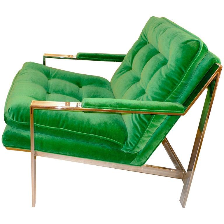 Cy Mann Chrome Lounge Chair At 1stdibs