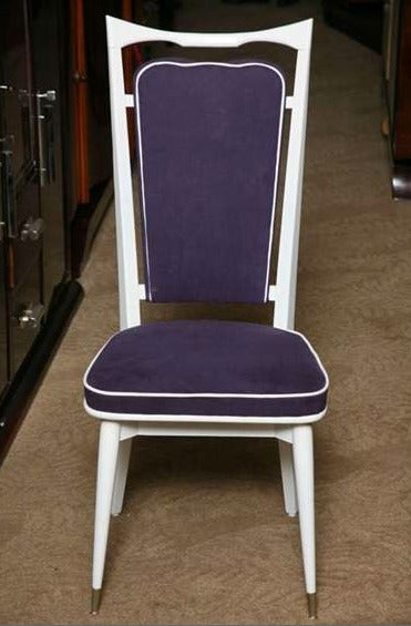 Set of 6 French Art Deco Dining Chairs For Sale 1