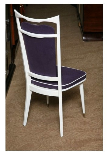 Set of 6 French Art Deco Dining Chairs For Sale 2