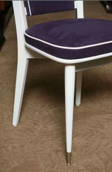 Set of 6 French Art Deco Dining Chairs For Sale 4