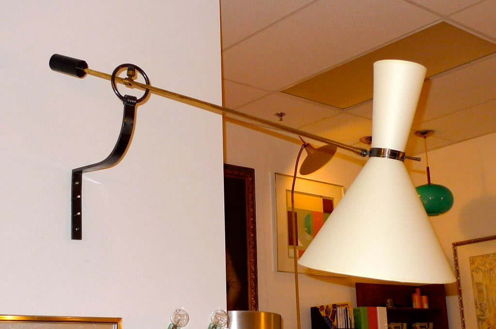 Massive French Counterbalance Wall Light Edited by Lunel For Sale 6
