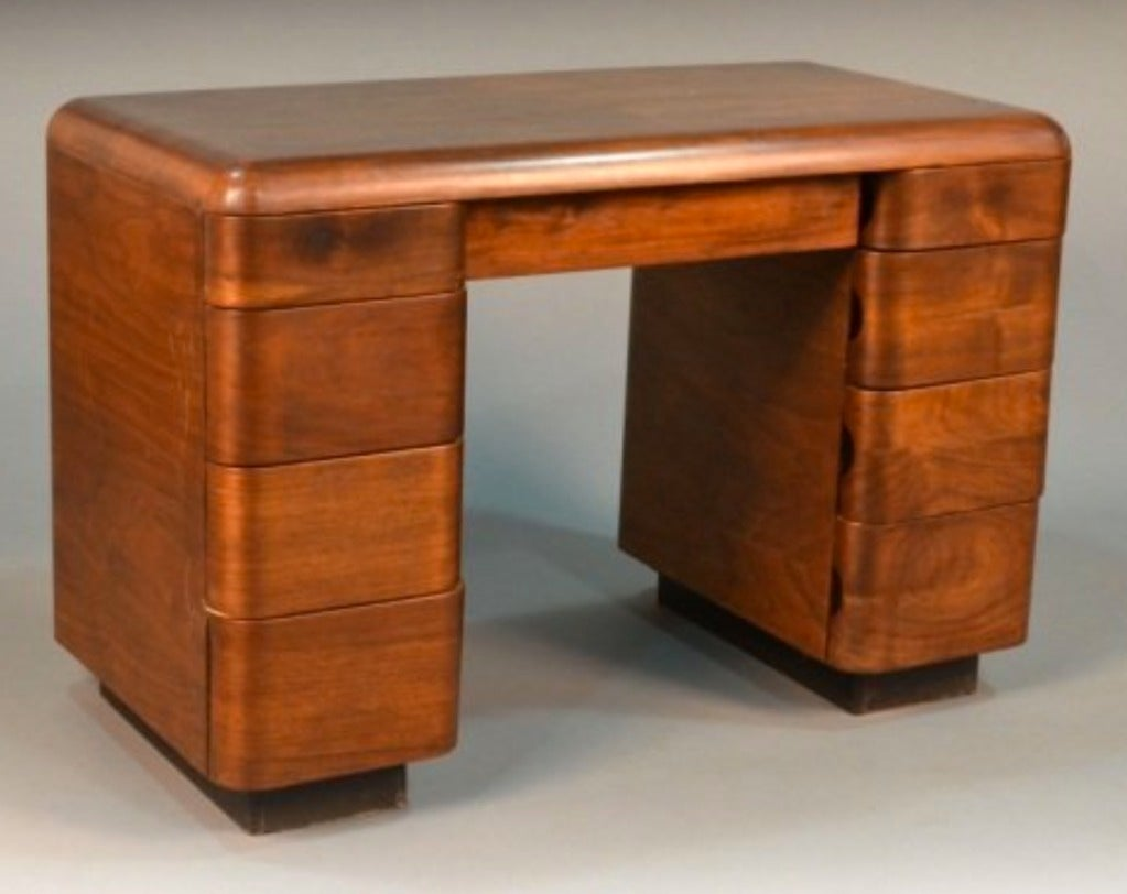 1940 39 s paul goldman bent plywood desk for plymold corp at for 1940s furniture design
