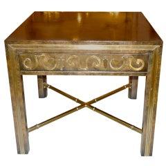 Mastercraft Brass & Carpathian Elm Occasional Table
