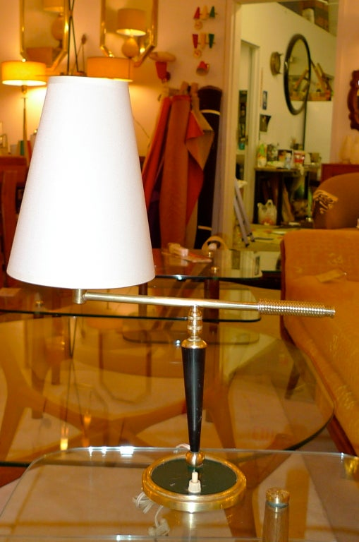 French 1950's Articulating Arm Table Lamp by Lunel For Sale 7