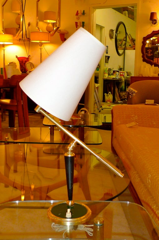 French 1950's Articulating Arm Table Lamp by Lunel For Sale 5