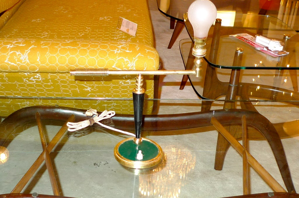 French 1950's Articulating Arm Table Lamp by Lunel For Sale 6