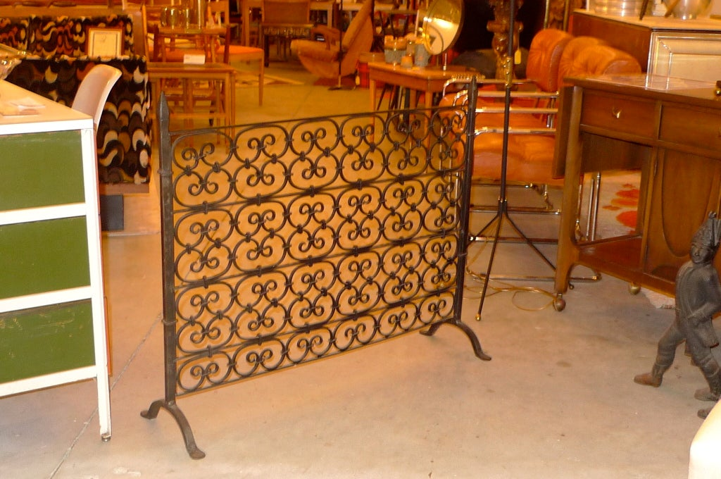 Fireplace Design cast iron fireplace screen : Iron Fireplace Screen at 1stdibs