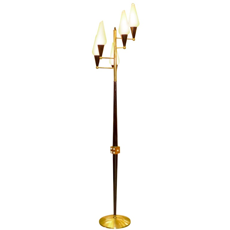 Stilnovo 5 Arm Floor Lamp With Dice For Sale At 1stdibs