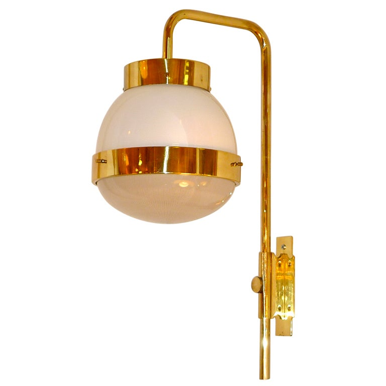 "Sergio Mazza for Artemide ""Delta"" Bracket Pendant For Sale"