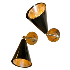 SS Ausonia Italian Ocean Liner '1956' Articulating Conical Sconces, 12 Available