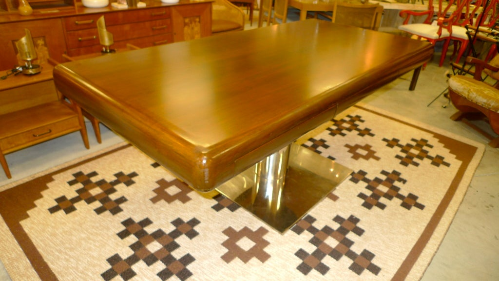 American Warren Platner Style Executive Pedestal Desk by Gianni