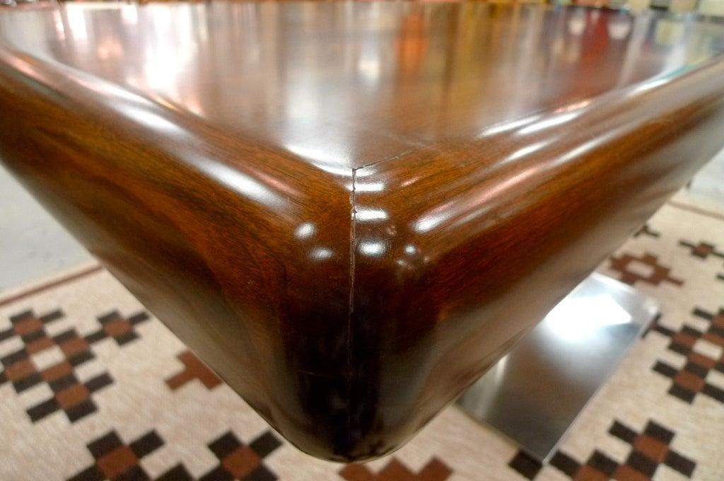 Chrome Warren Platner Style Executive Pedestal Desk by Gianni