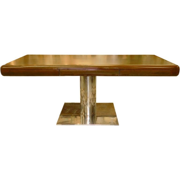 Warren Platner Style Executive Pedestal Desk by Gianni