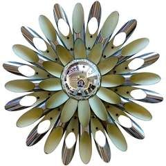 Polished Aluminum Dandelion Flush Mount