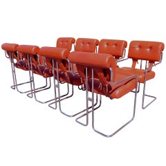 Set of 8 Tucroma Chairs by Guido Faleschini for Pace Collection