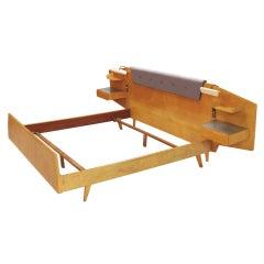 Modernist mahogany king size headboard by gibbard of - Gio ponti mobili ...