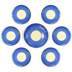 Blue & White Ceramic Dessert Set by Pucci Umbertide