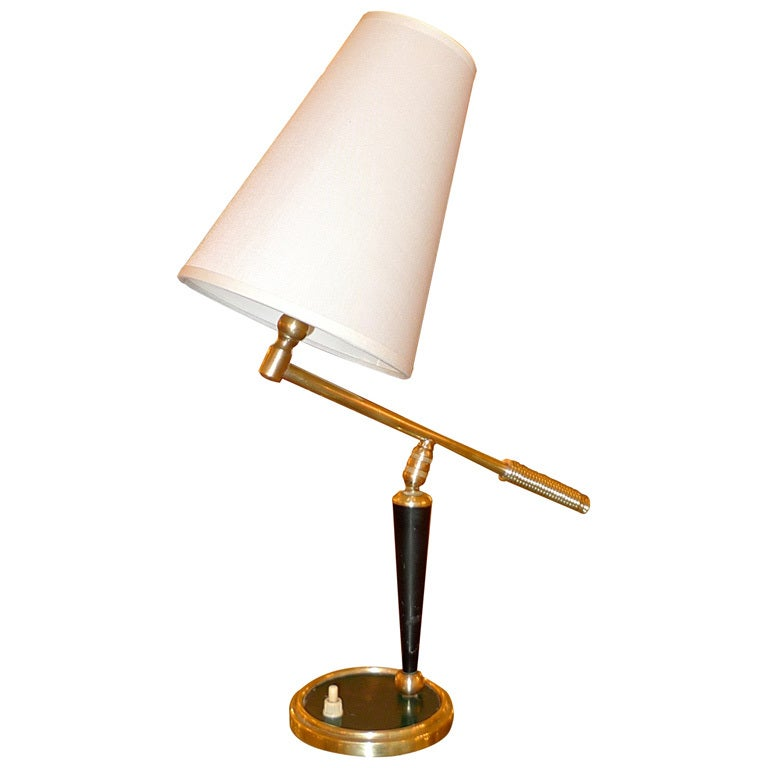 French 1950's Articulating Arm Table Lamp by Lunel