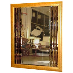 Oversize Gold Framed Multi-Beveled Bordered Mirror