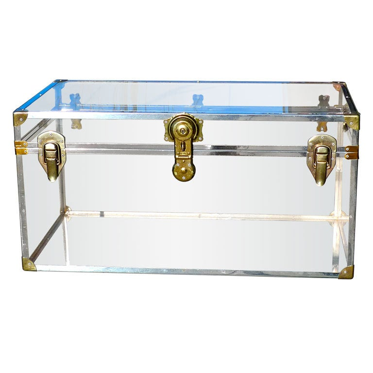 Vintage Lucite Steamer Trunk At 1stdibs