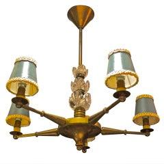 Maison Jansen Bronze & Crystal Chandelier