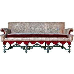 19th Century Tapestry Sofa in William & Mary Style