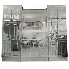 Ello Mirrored & Illuminated Display Cabinet & Bar