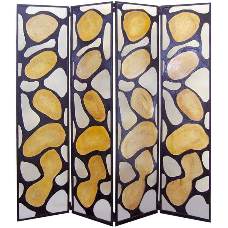 Mica & Iron Folding Screen