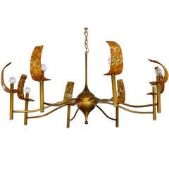 Large Mid-Century Modern Eight Arm Chandelier