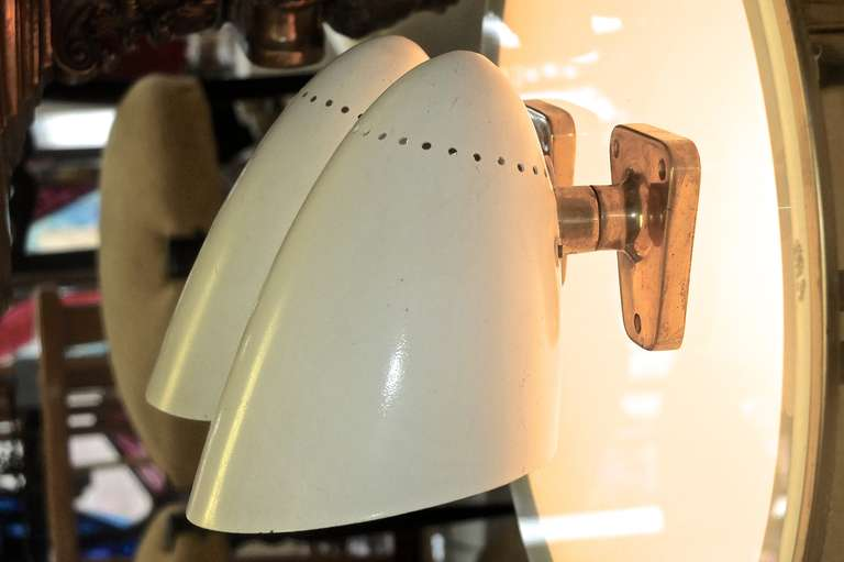 German Pair of 1950s Wall Sconces by Gunther Trieschmann For Sale