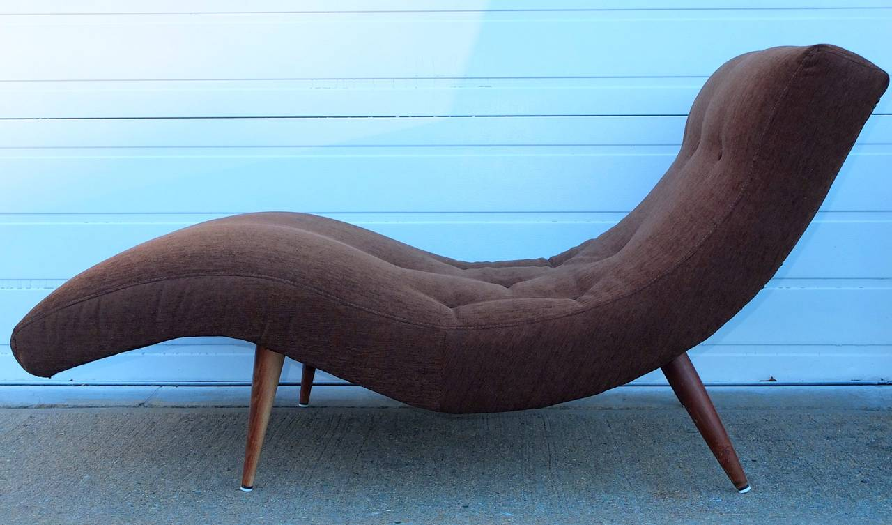 Adrian pearsall wave chaise at 1stdibs for Chaise longue wave