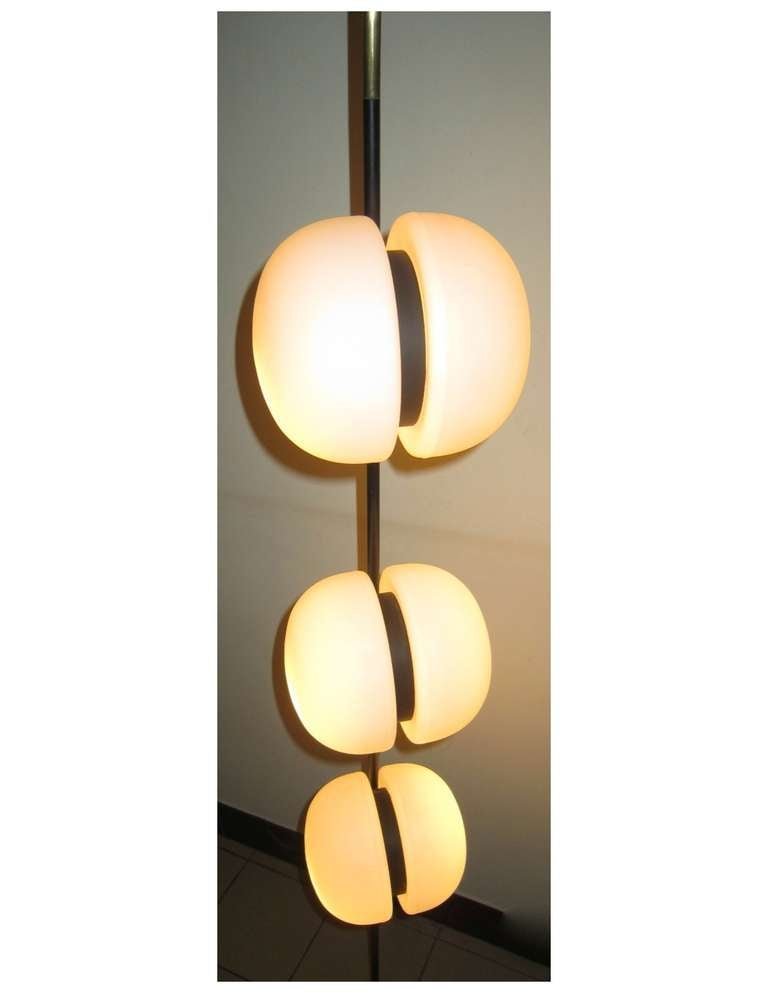 French 1950's 6 Globe Floor Lamp by Lunel In Excellent Condition For Sale In Hingham, MA