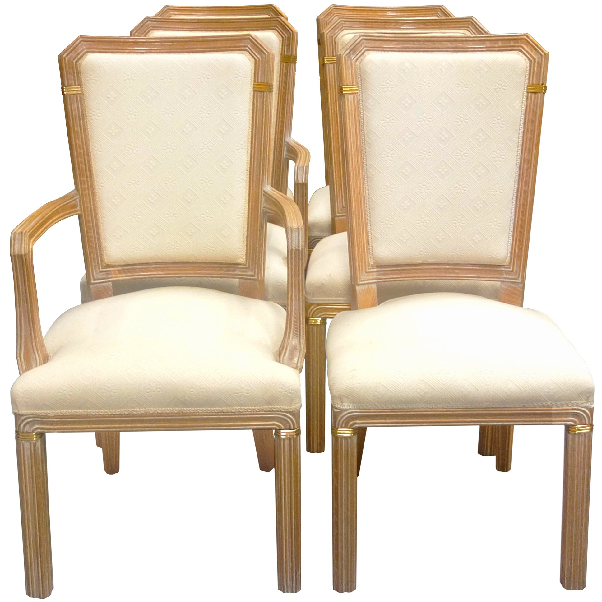 Set Of Eight Cerused Oak Calipso Dining Chairs By Bu0026B Italia For Sale At  1stdibs