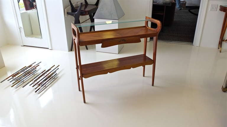 Mid-Century Modern 1950's Italian Console Table After ico Parisi For Sale