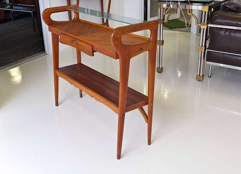 1950's Italian Console Table After ico Parisi In Good Condition For Sale In Hingham, MA