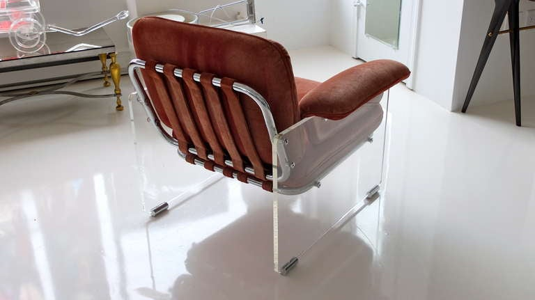 Pace Collection Lucite Lounge Chair For Sale 3