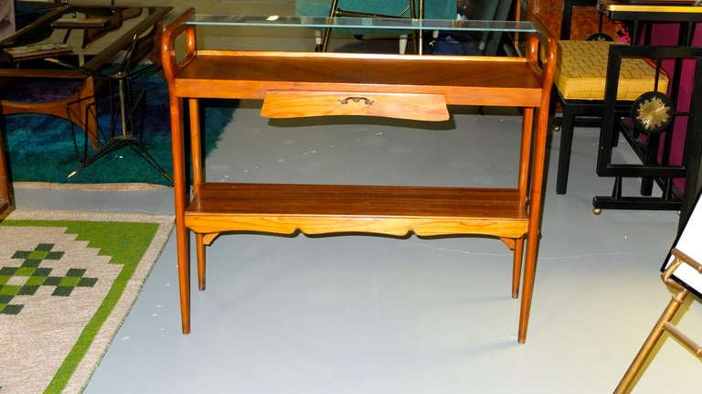 Mid-20th Century 1950's Italian Console Table After ico Parisi For Sale