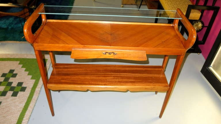 1950's Italian Console Table After ico Parisi For Sale 1