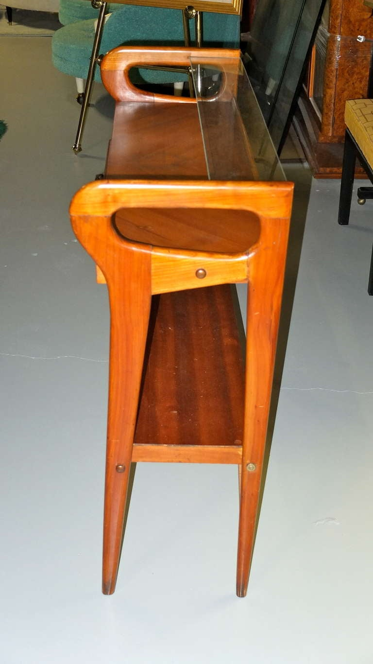 1950's Italian Console Table After ico Parisi For Sale 2